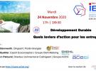 WEBINAIRE JNI DÉVELOPPEMENT DURABLE LE 24.11.20