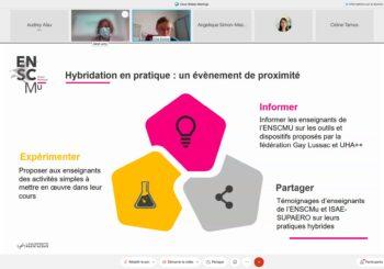 1RE DEMI-JOURNÉE HYBRIDATION DES ENSEIGNEMENTS À L'ENSCMu